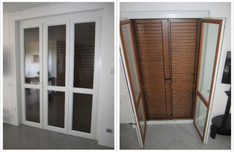 Serramenti PVC Cesate vicino Saronno personalizzabili con finitura bicolore interno esterno.