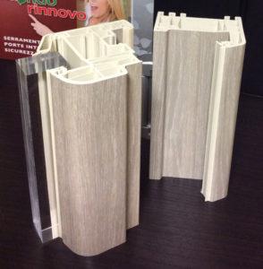 serramento pvc rivestito effetto legno su tutti i lati