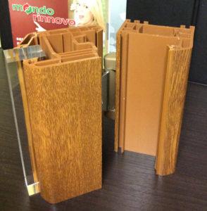 serramento in pvc rivestito effetto legno