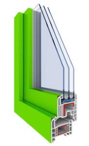 infisso in alluminio-pvc triplo vetro